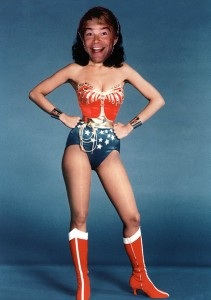 Wonder Woman and Stuart Smalley mashup.